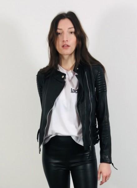City Biker Leather Jacket black
