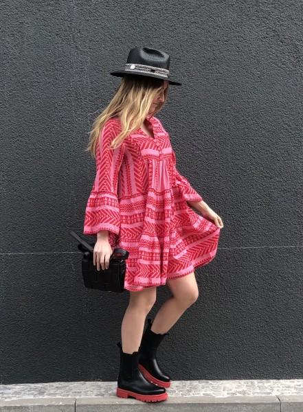Ella Dress Short Zakar Red/Pink